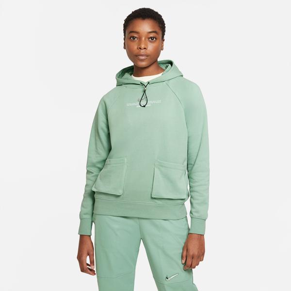 Nike Sportswear Swoosh Kadın Yeşil Sweatshirt