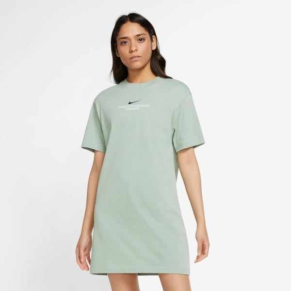 Nike Sportswear Swoosh Kadın Yeşil Elbise