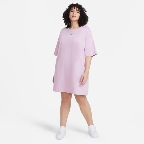 Nike Sportswear Swoosh Kadın Pembe Elbise