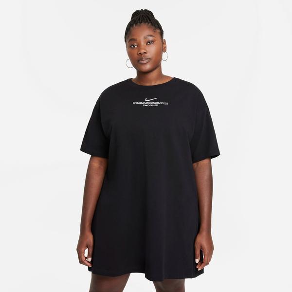 Nike Sportswear Swoosh Kadın Siyah Elbise