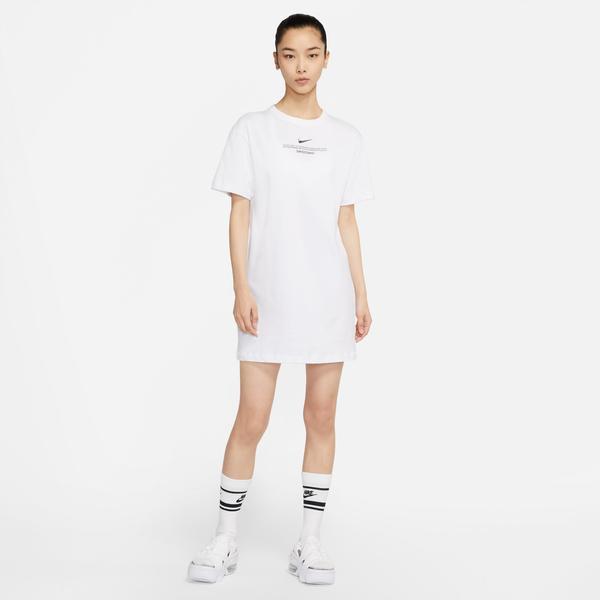 Nike Sportswear Swoosh Kadın Beyaz Elbise