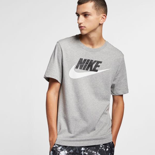 Nike Sportswear Icon Futura Erkek Gri T-Shirt