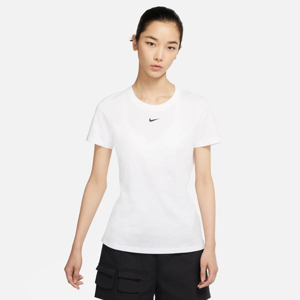 Nike Sportswear Essntl Crew Lbr Kadın Beyaz T-Shirt