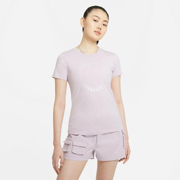 Nike W Nsw Tee Icon Clash Kadın Mor T-Shirt