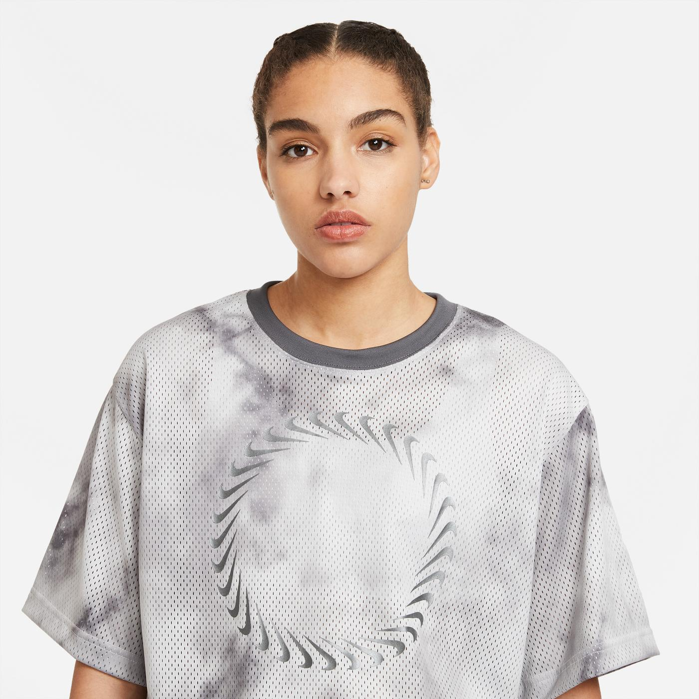 Nike Sportswear Icon Clash Kadın Gri T-Shirt