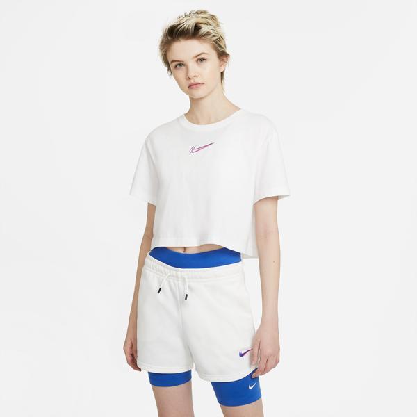Nike Sportswear Kadın Beyaz Cropped T-Shirt