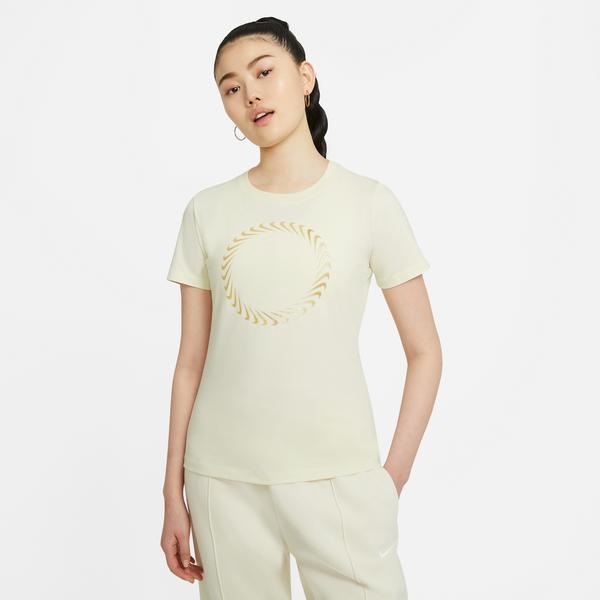 Nike W Nsw Tee Icon Clash Kadın Sarı T-Shirt