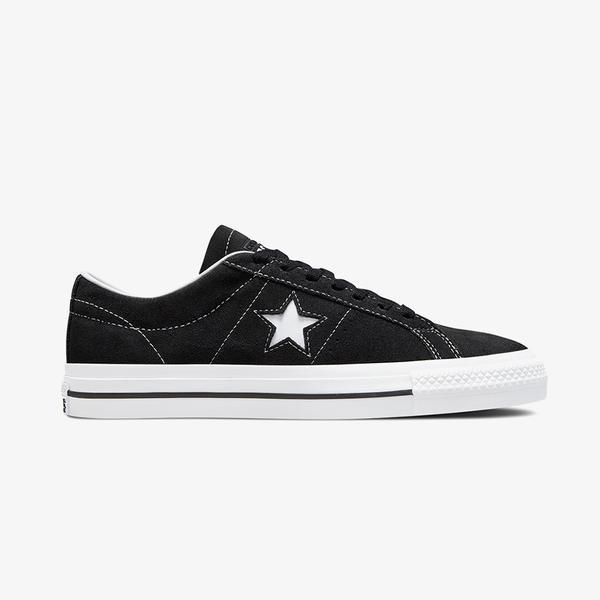 Converse One Star Pro Low Unisex Siyah Deri Sneaker