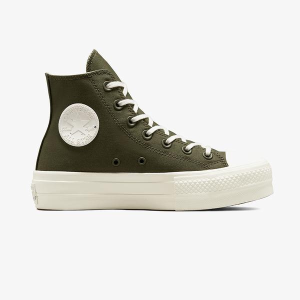 Converse Chuck Taylor All Star Lift Hi Kadin Platform Yeşil Sneaker