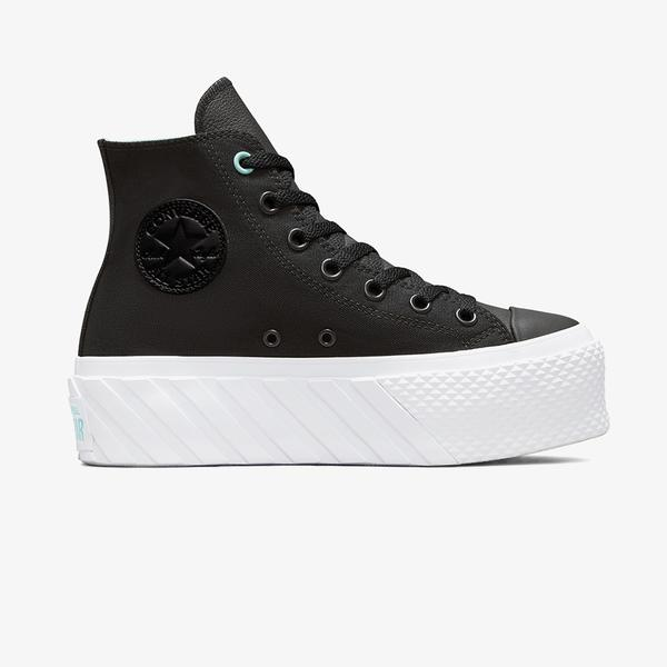 Converse Chuck Taylor All Star Lift 2X Hi Kadin Platform Siyah Sneaker