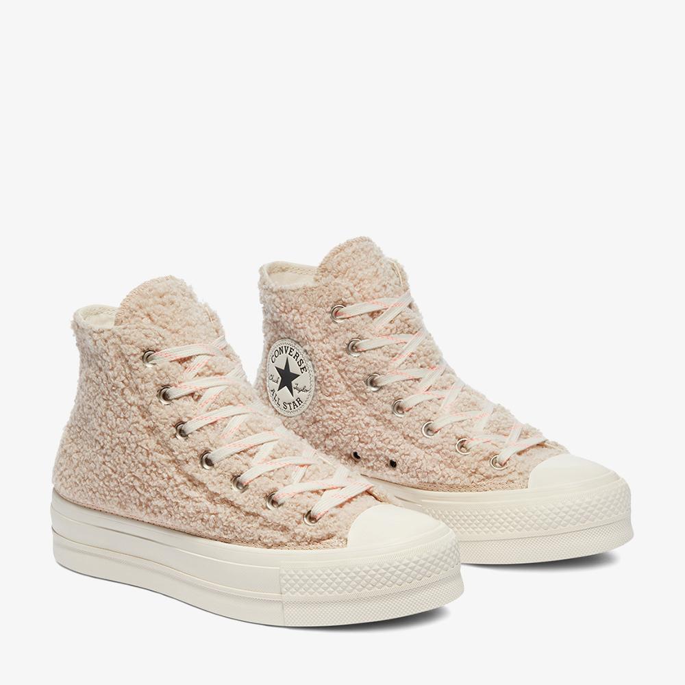 Converse Chuck Taylor All Star Lift Kadin Platform Bej Sneaker