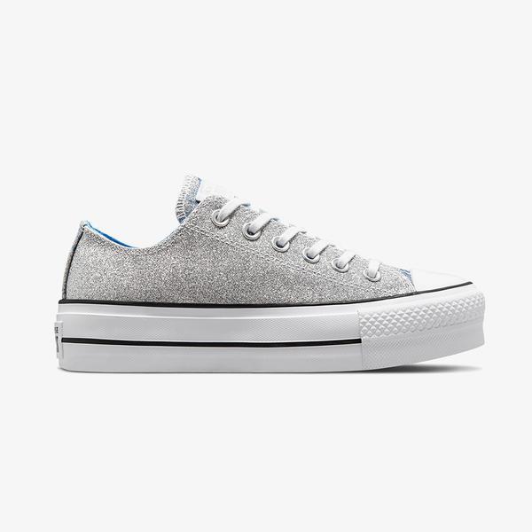 Converse Chuck Taylor All Star Lift Low Kadin Platform Gri Sneaker