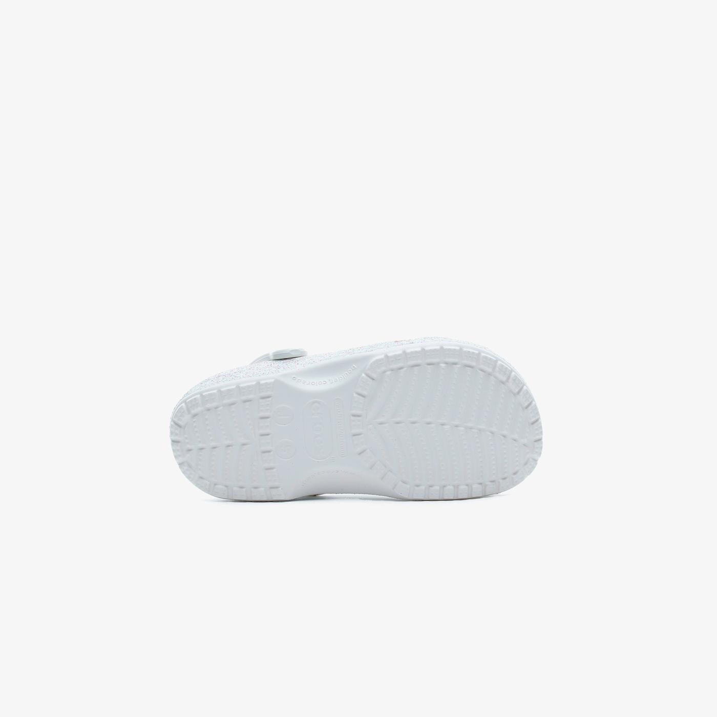 Crocs Classic Glitter Clog K Çocuk Beyaz Terlik