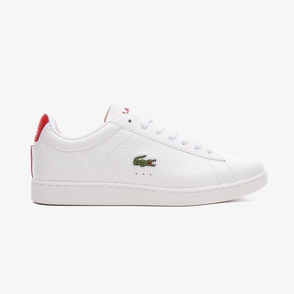Lacoste Carnaby Evo 0721 4 Sma Erkek Beyaz - Kırmızı Spor Ayakkabı