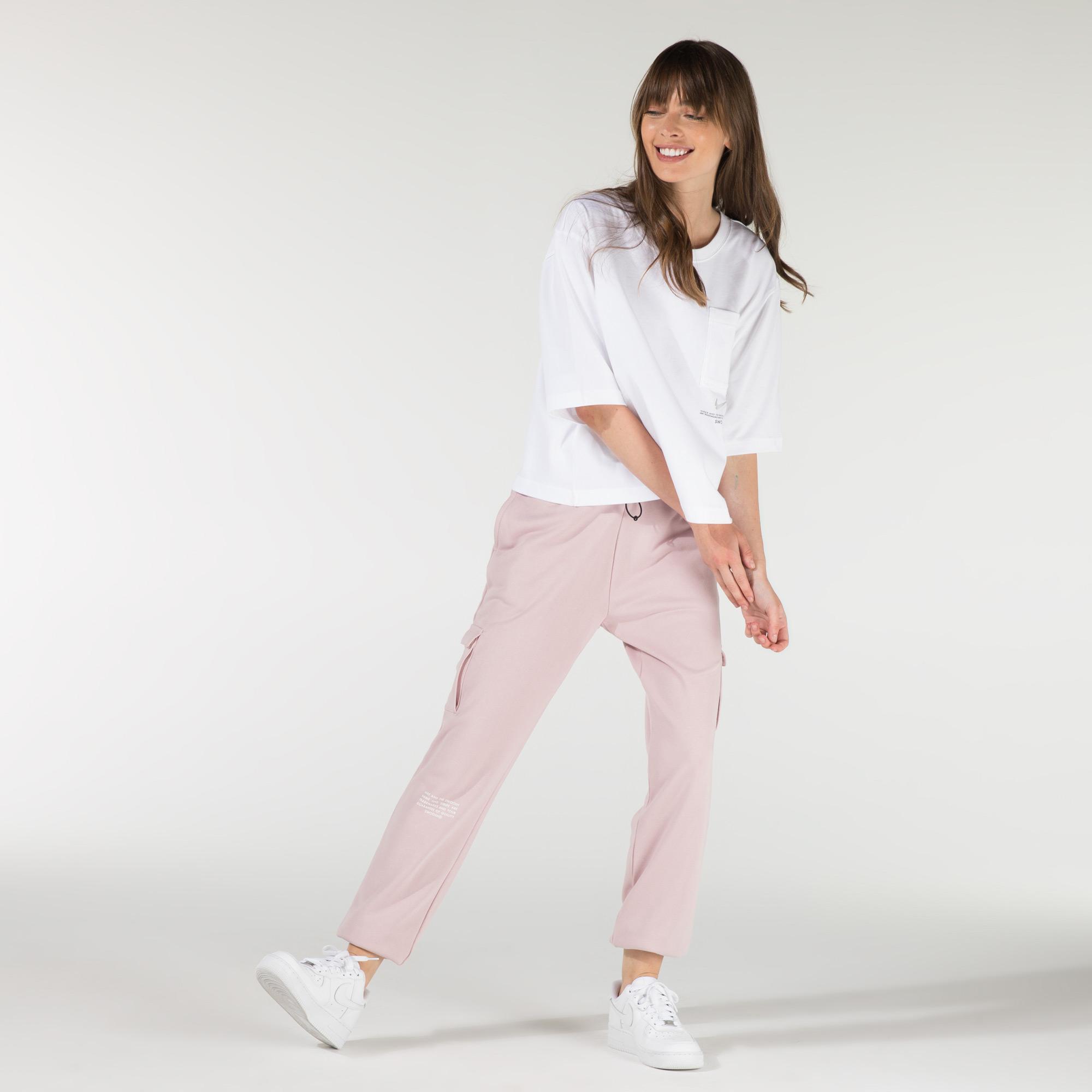 Nike Swoosh Kadın Pembe Eşofman Altı