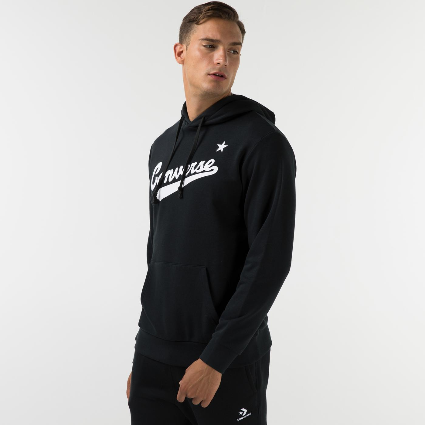 Converse Nova Pullover Ft Erkek Siyah Sweatshirt