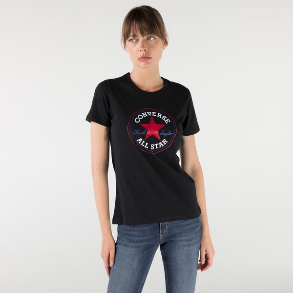 Converse Chuck Patch Nova Kadın Siyah T-Shirt