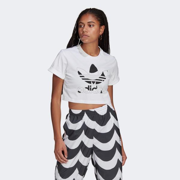 adidas Marimekko Trefoil Infill Kadın Beyaz T-shirt