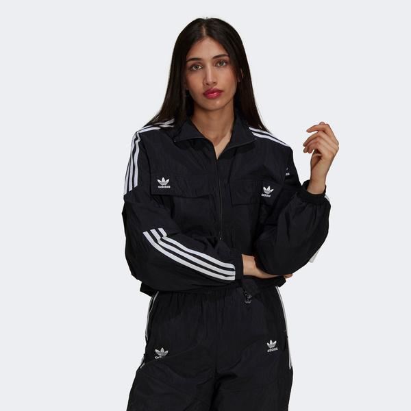 adidas Classics Disrupted Icon Kadın Siyah Eşofman Üstü