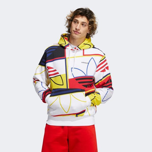 adidas Aop Logo Play H Erkek Renkli Sweatshirt