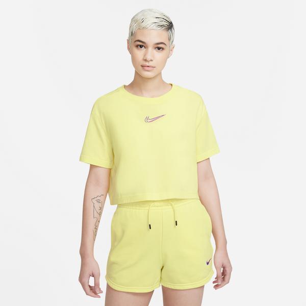 Nike Sportswear Kadın Sarı Cropped T-Shirt