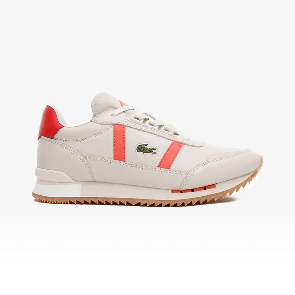 Lacoste Partner Retro 0721 1 Sfa Kadın Beyaz - Pembe Spor Ayakkabı
