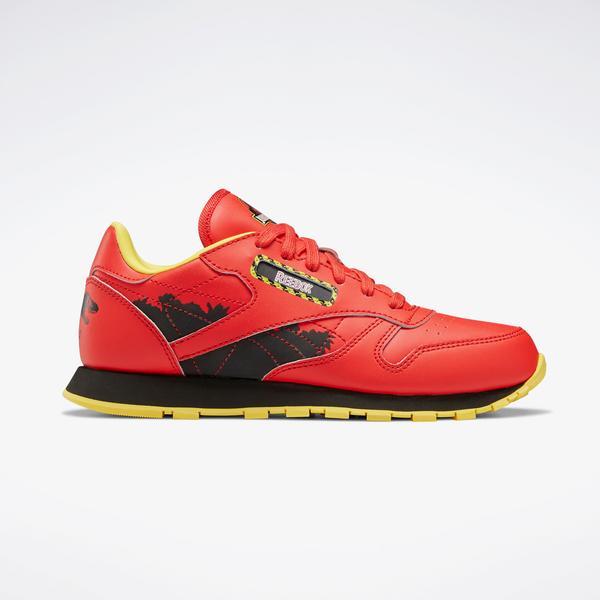Reebok Jurassic Park CL Leather Kadın Kırmızı Spor Ayakkabı