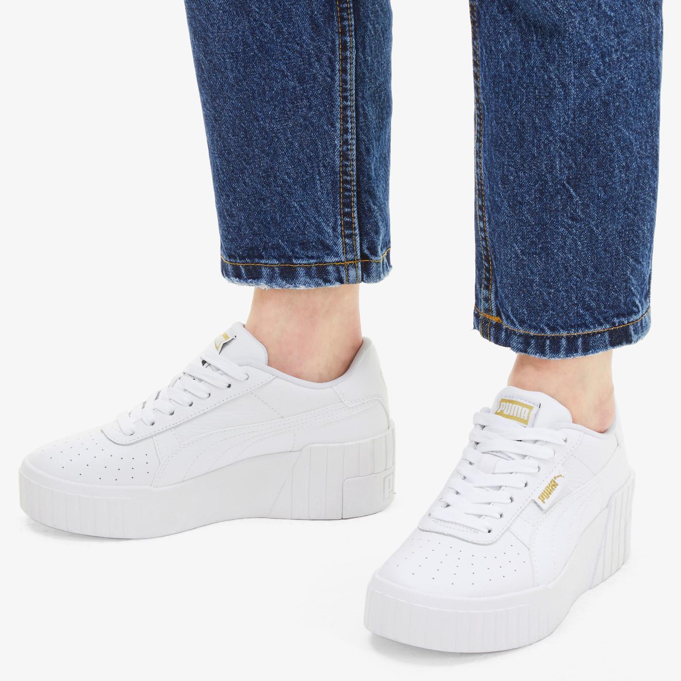 Puma Cali Wedge Kadın Beyaz Spor Ayakkabı