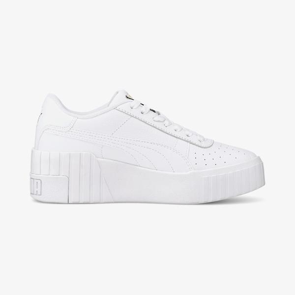 Puma Cali Wedge Kadın Platform Beyaz Spor Ayakkabı