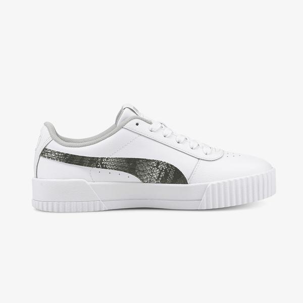 Puma Carina L Snake Kadın Beyaz Spor Ayakkabı