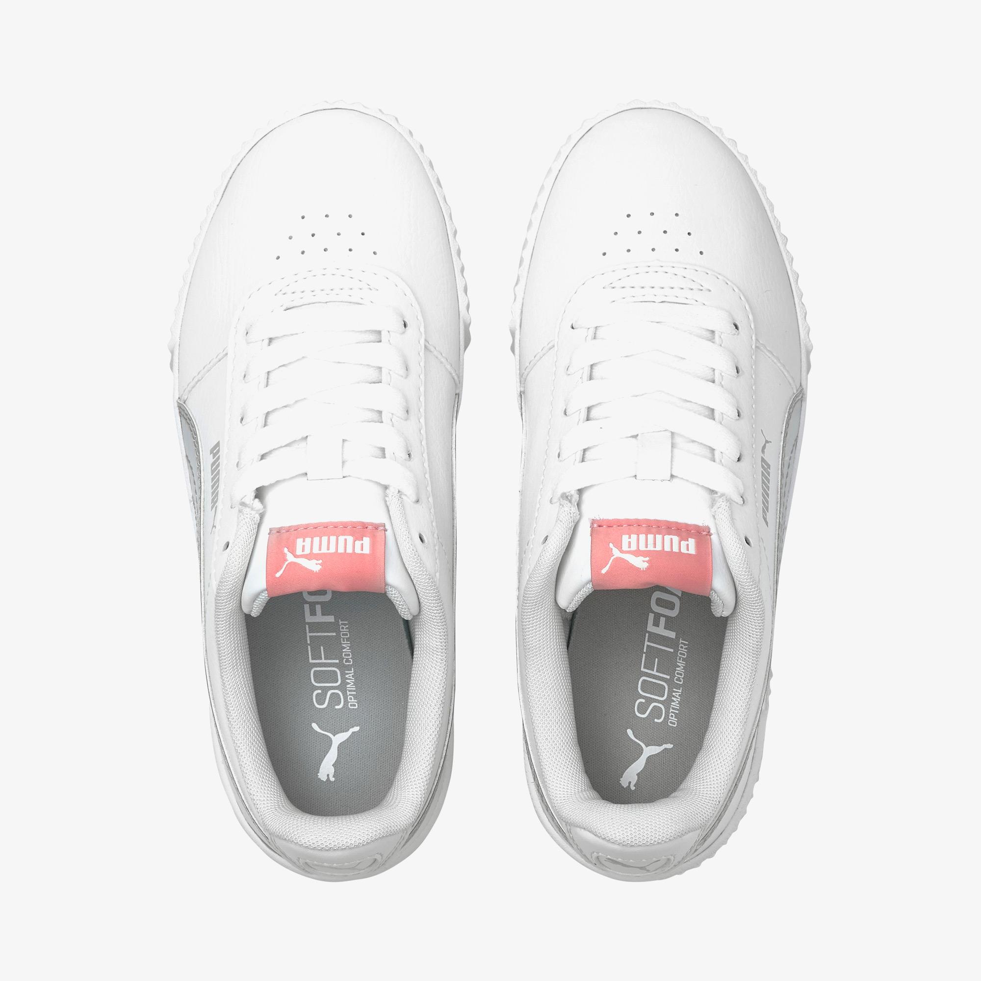 Puma Carina Rainbow Kadın Beyaz Spor Ayakkabı