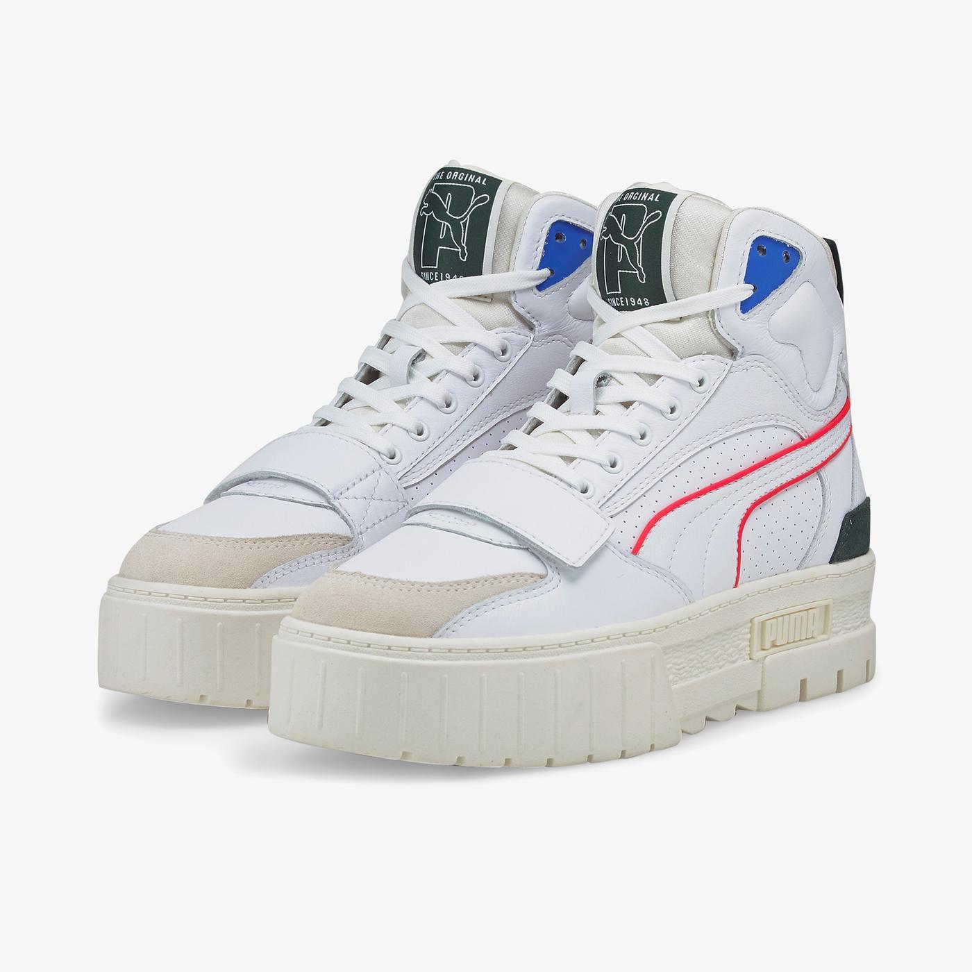 Puma Mayze Mid PxP Kadın Beyaz Spor Ayakkabı