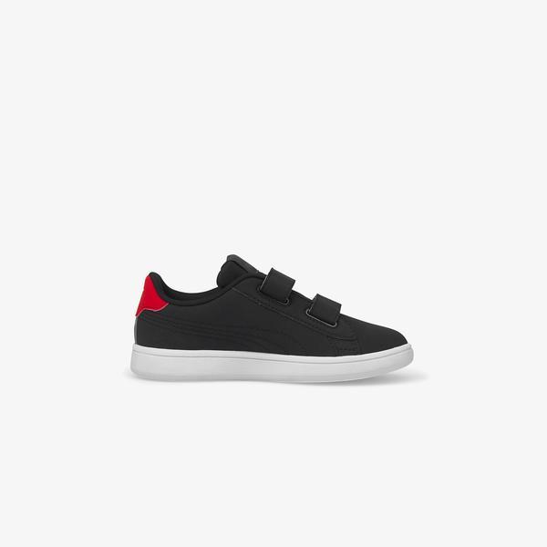 Puma Smash V2 Lil V Çocuk Siyah Spor Ayakkabı