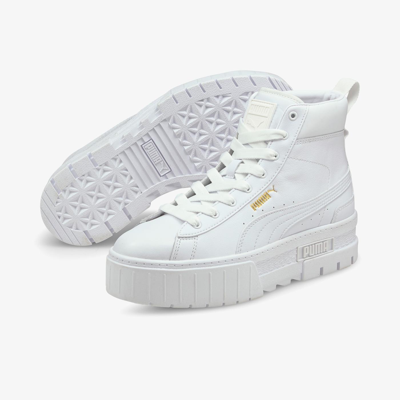 Puma Mayze Mid Kadın Beyaz Spor Ayakkabı