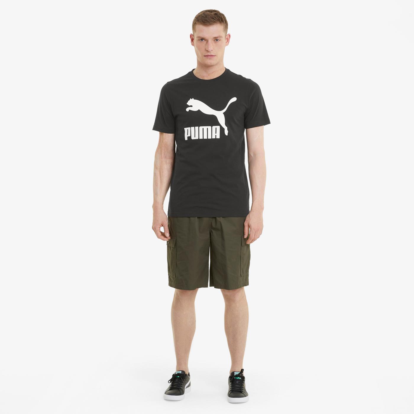Puma Classics Logo Erkek Siyah T-Shirt