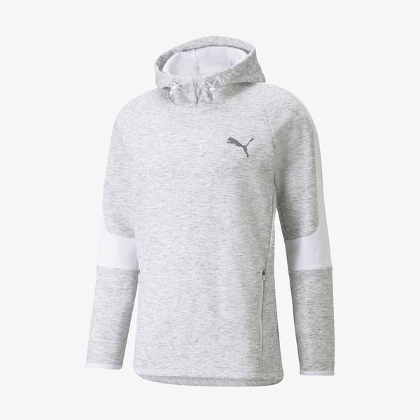 Puma Evostripe FZ Erkek Gri Sweatshirt
