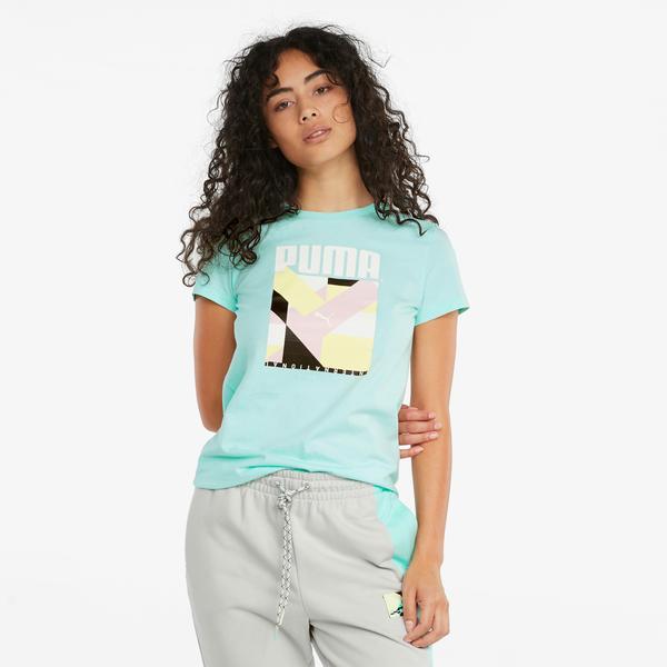 Puma international Kadın Mavi T-Shirt
