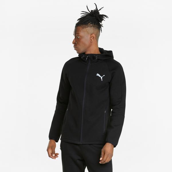 Puma Evostripe FZ Erkek Siyah Sweatshirt
