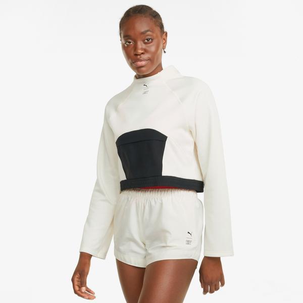 Puma Train First Mile Kadın Bej Sweatshirt