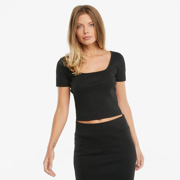 Puma Classics Kadın Siyah T-Shirt