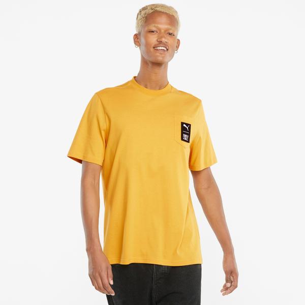 Puma First Mile Erkek Sarı T-Shirt