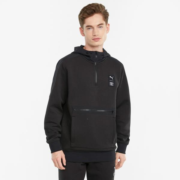 Puma First Mile Erkek Siyah Sweatshirt