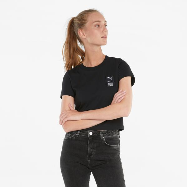 Puma First Mile Kadın Siyah T-Shirt