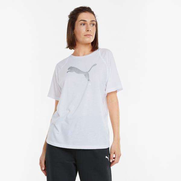 Puma Evostripe Kadın Beyaz T-Shirt