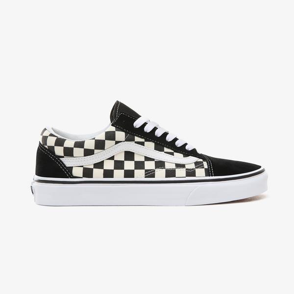 Vans  Primary Check Old Skool Siyah - Bej Unisex Sneaker