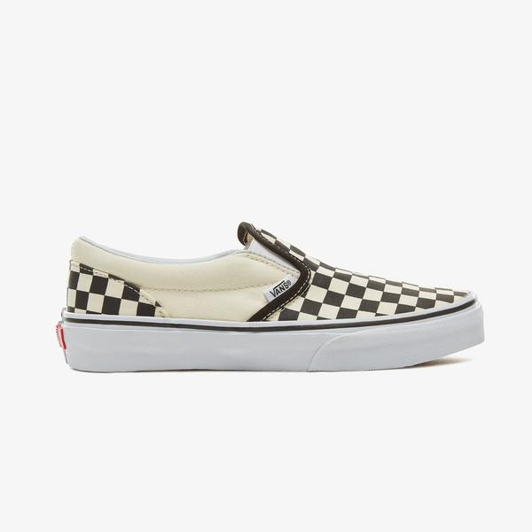 Vans Classic Slip-On Checkerboard Çocuk Krem Sneaker