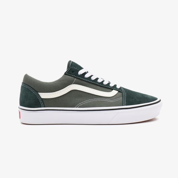 Vans Ua Comfycush Old Skool Erkek Yeşil Sneakers