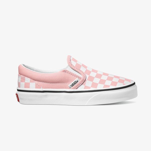 Vans Check Classic Slip On Çocuk Pembe Sneakers