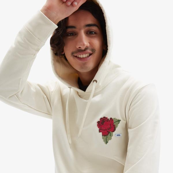 Vans Anaheim Needlepoint Floral Po Erkek Bej Sweatshirt