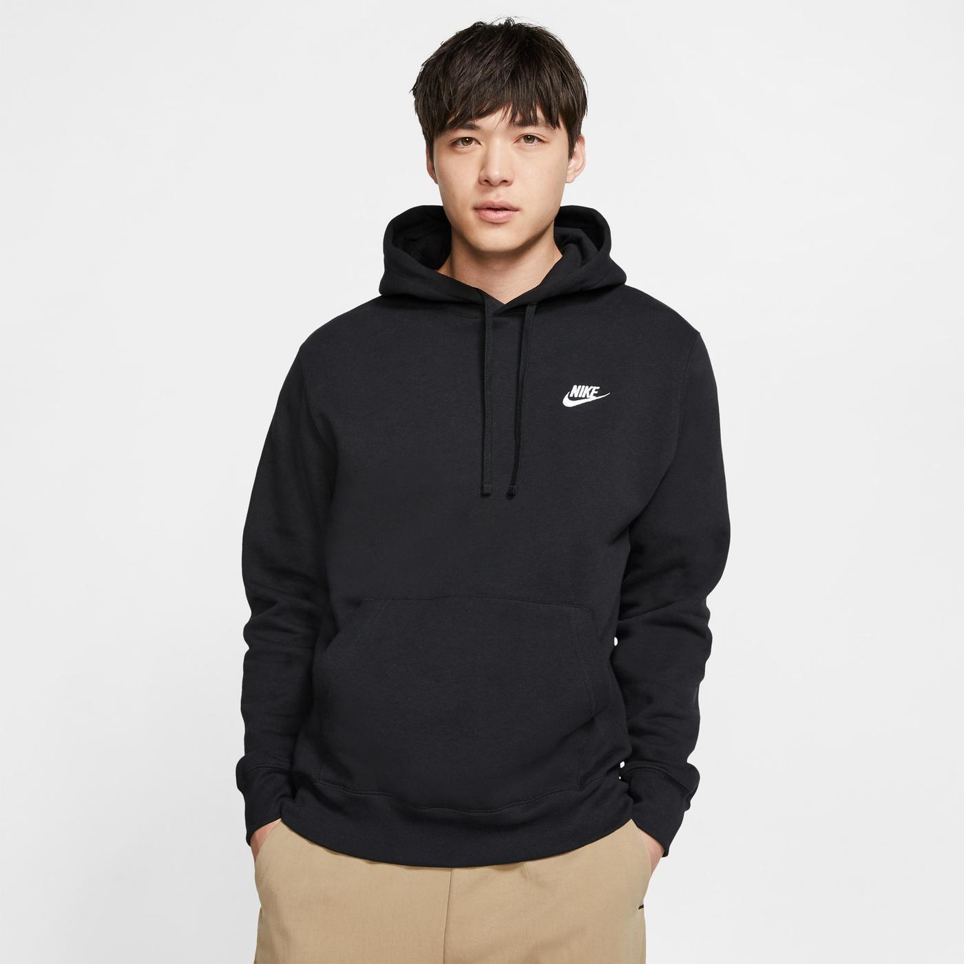 Nike Club Fleece Erkek Siyah Sweatshirt